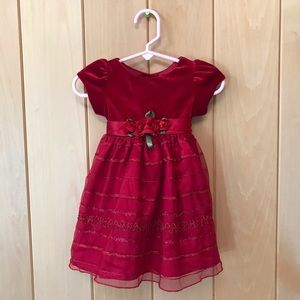 Children's Place Red Holiday Dress size 6-9 Mos